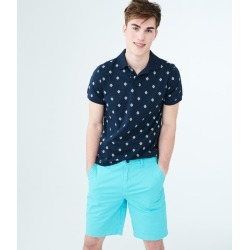 Aeropostale Classic Reflex Flat-Front Shorts - Blue Mist, 33 found on Bargain Bro from Aeropostale for USD $33.82