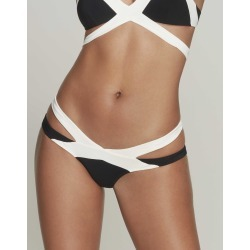 Agent Provocateur Mazzy Bikini Brief High Cut In Black And White found on Bargain Bro UK from Agent Provocateur (UK)