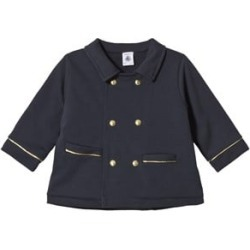 Petit Bateau Blue Double Breasted Baby Jacket 12 months