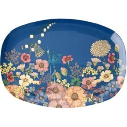 RICE A/S RICE A/S Rectangular Melamine Plate with Flower Collage One Size