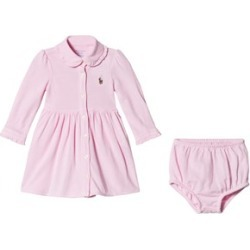 Ralph Lauren Ralph Lauren Pink Frill Collar Oxford Mesh Shirt Dress 12 months found on Bargain Bro UK from Alex and Alexa