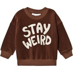 Mini Rodini Brown Stay Weird Terry Sweatshirt 92/98 cm found on Bargain Bro India from Alex and Alexa for $31.85