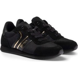 BOSS BOSS Black and Gold Lace Up Trainers 38 (UK 5)