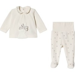 Mayoral Cream Velour Bunny and Spot 2 Piece Set 2-4 months