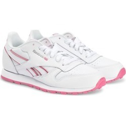 Reebok Reebok White & Pink Classic Youth Leather Trainers 37 (UK 5)