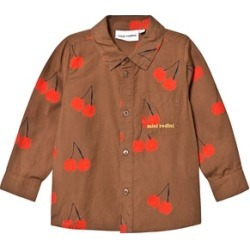 Mini Rodini Brown Cherry Fruit Print Woven Shirt 80/86 cm found on Bargain Bro India from Alex and Alexa for $75.00
