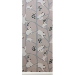 ferm LIVING ferm LIVING Grey Koala Wallpaper One Size