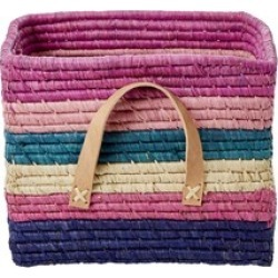 RICE A/S RICE A/S Striped Raffia Basket One Size