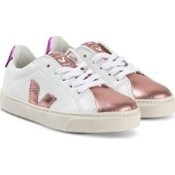 Veja White & Gold Esplar Lace Leather Trainers 38 (UK 5)