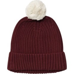 One We Like One We Like Burgundy Knitted Pompom Hat L (54-56 cm)