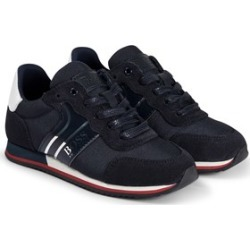 BOSS BOSS Navy and Silver Hugo Boss Suede Leather Lace Up Trainers 38 (UK 5)