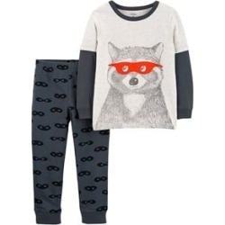 Carter's Grey Racoon Clothing Set 9 Months