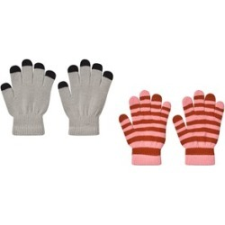 Molo Pack of 2 Grey Melange Kei Gloves One Size (2-10y)
