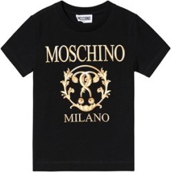 Moschino Moschino Black and Gold Milano Branded T-Shirt 5 years found on Bargain Bro UK from Alex and Alexa