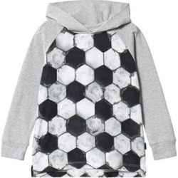 Molo Black White And Grey Football Structure Ramzi Hoodie 110 cm (4-5 Years)