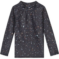 Soft Gallery Black India Ink Flakes Mix Astin Sun Shirt 3 Years