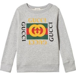 Gucci Grey Felted Long Sleeve Retro Logo Sweatshirt 10 years found on Bargain Bro India from Alex and Alexa for $299.00