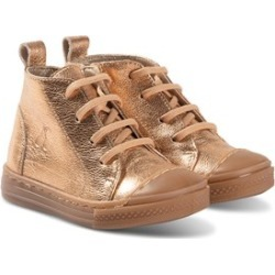 Bonpoint Bonpoint Bronze Lace Up High Top Trainers 22 (UK 5.5)