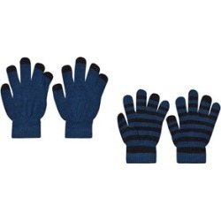 Molo Pack of 2 Ocean Blue Keio Gloves One Size (2-10y)