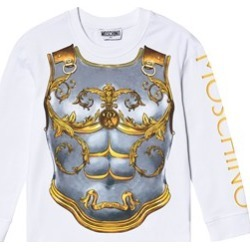 Moschino Moschino White Armour Trompe L´Oeil Branded Long Sleeve T-Shirt 4 years found on Bargain Bro UK from Alex and Alexa