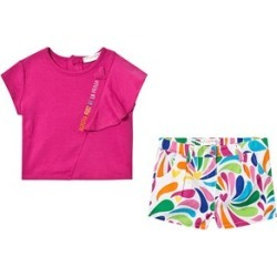 Agatha Ruiz de la Prada Agatha Ruiz de la Prada Pink Top and White Multi Pattern Short Set 18 months found on MODAPINS from Alex and Alexa for USD $53.19