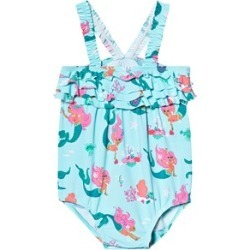 Hatley Multicoloured Mermaid Tales Baby Ruffle Swimsuit 9-12 months