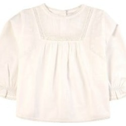 Belle Enfant Taupe Lace and Embroidery Blouse 3-4 Years