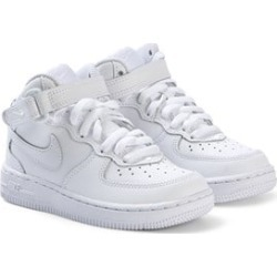 Nike White Nike Air Force 1 Mid Basketball Shoe 33 (UK 1)