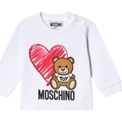 Moschino Moschino White Heart and Bear Long Sleeve T-Shirt 9-12 months found on Bargain Bro UK from Alex and Alexa