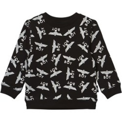 Boy London Boy London Black and White Repeat Logo Sweatshirt 7-8 years found on MODAPINS from Alex and Alexa for USD $64.88