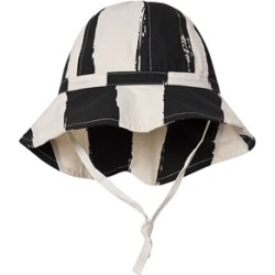 Noe & Zoe Berlin Noe & Zoe Berlin Black and Cream Stripe Bucket Hat 9-18 months