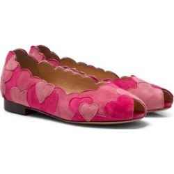 Charlotte Olympia Charlotte Olympia Pink Incy Love Me Heart Applique Flats 26 (UK 8) found on MODAPINS from Alex and Alexa for USD $179.97