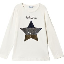 Mayoral Cream Feel Like a Star Reverse Sequin Long Sleeve T-Shirt 16 years