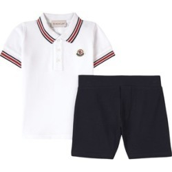 Moncler White Top And Shorts 12-18 months