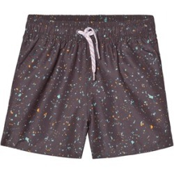 Soft Gallery Black India Ink Flakes Mix Dandy Swim Shorts 6 Years