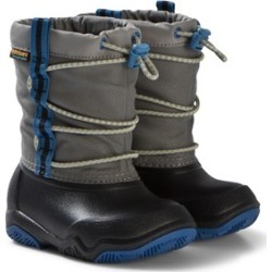Crocs Kids Black/Blue Jean Swiftwater Waterproof Boot C6 (EU 22/23)