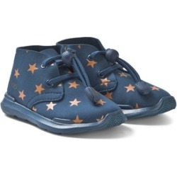 AKID AKID Blue and Red Star Print Trainers US 4 (UK 3, EU 35)