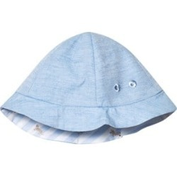 Mayoral Mayoral Sky Blue Reversible to Stripe Sun Hat 6-9 months