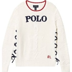 Ralph Lauren White Polo and Anchor Tie Detail Jumper M (8-10 years) found on Bargain Bro from Alex and Alexa for USD $42.98