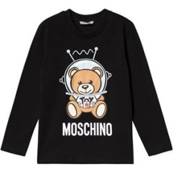 Moschino Moschino Black Space Bear Branded Long Sleeve T-Shirt 10 years found on Bargain Bro UK from Alex and Alexa