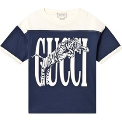Gucci Gucci Navy and Cream Gucci Tiger T-Shirt 10 years