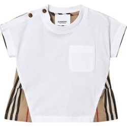 Burberry White and Archive Check Mini Delilah Back Detail T-Shirt 18 months