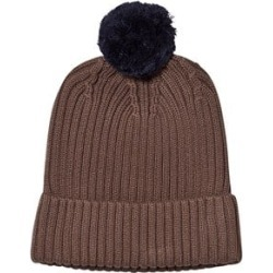 One We Like One We Like Brown Knitted Pompom Hat L (54-56 cm)