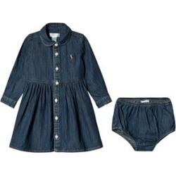 Ralph Lauren Ralph Lauren Blue Chambray Shirt Dress with matching Briefs 12 months found on Bargain Bro UK from Alex and Alexa