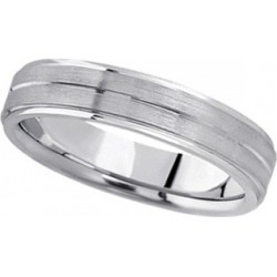 Carved Wedding Band in Platinum For Men (5mm) found on Bargain Bro from Allurez for USD $2,236.68