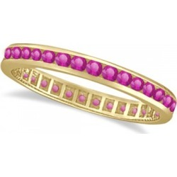 Pink Sapphire Channel Set Eternity Band 14k Y. Gold (1.04ct) found on Bargain Bro India from Allurez for $853.00