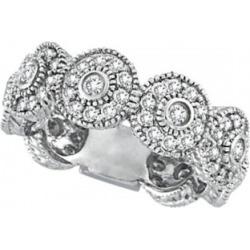 Venetian Eternity Diamond Ring With Circles 14k White Gold (1.26 ctw) found on Bargain Bro from Allurez for USD $1,529.12