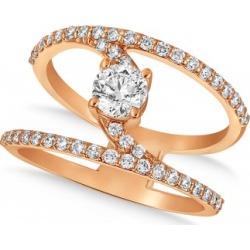 Diamond Adorned Negative Space Diamond Ring 14k Rose Gold (1.00ct)