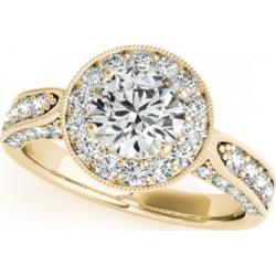 Vintage Milgrain Round Diamond Engagement Ring 14k Yellow Gold 1.75ct found on Bargain Bro India from Allurez for $6168.00