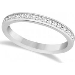 Semi-Eternity Diamond Wedding Ring Palladium (0.21ct) found on MODAPINS from Allurez for USD $1867.00
